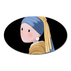 Girl With A Pearl Earring Oval Magnet