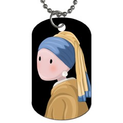 Girl With A Pearl Earring Dog Tag (two Sides)