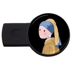 Girl With A Pearl Earring Usb Flash Drive Round (2 Gb)