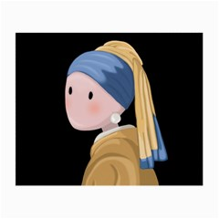 Girl With A Pearl Earring Small Glasses Cloth
