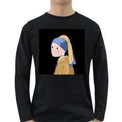 Girl With A Pearl Earring Long Sleeve Dark T Shirts