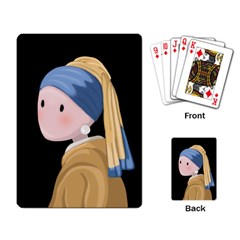 Girl With A Pearl Earring Playing Card