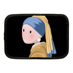Girl With A Pearl Earring Netbook Case (medium)