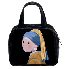 Girl With A Pearl Earring Classic Handbags (2 Sides)