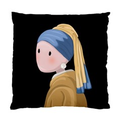 Girl With A Pearl Earring Standard Cushion Case (two Sides)