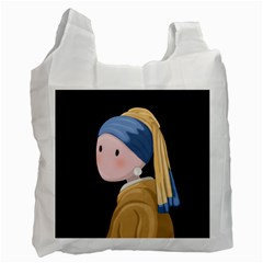 Girl With A Pearl Earring Recycle Bag (two Side)