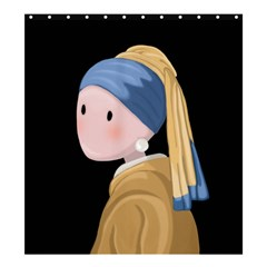 Girl With A Pearl Earring Shower Curtain 66  X 72  (large)