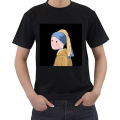 Girl With A Pearl Earring Men s T Shirt (black)