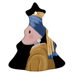 Girl With A Pearl Earring Christmas Tree Ornament (two Sides)