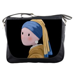 Girl With A Pearl Earring Messenger Bags