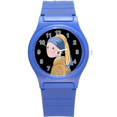 Girl With A Pearl Earring Round Plastic Sport Watch (s)