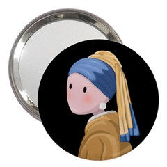 Girl With A Pearl Earring 3  Handbag Mirrors