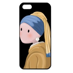 Girl With A Pearl Earring Apple Iphone 5 Seamless Case (black)