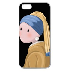 Girl With A Pearl Earring Apple Seamless Iphone 5 Case (clear)