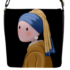 Girl With A Pearl Earring Flap Messenger Bag (s)