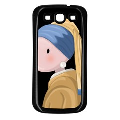 Girl With A Pearl Earring Samsung Galaxy S3 Back Case (black)