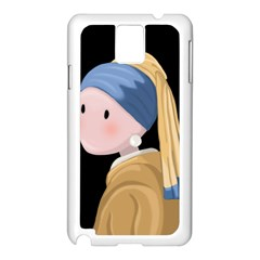 Girl With A Pearl Earring Samsung Galaxy Note 3 N9005 Case (white)