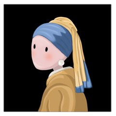 Girl With A Pearl Earring Large Satin Scarf (square)