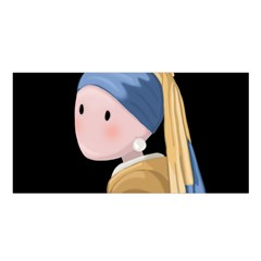Girl With A Pearl Earring Satin Shawl