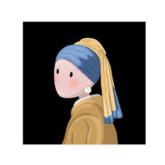 Girl With A Pearl Earring Small Satin Scarf (square)