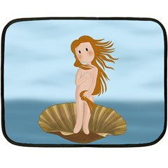 The Birth Of Venus Double Sided Fleece Blanket (mini)
