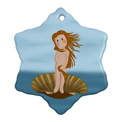 The Birth Of Venus Snowflake Ornament (two Sides)