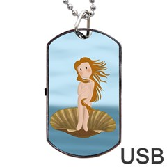 The Birth Of Venus Dog Tag Usb Flash (one Side)