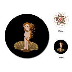 The Birth Of Venus Playing Cards (round)