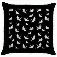 Paper Cranes Pattern Throw Pillow Case (black)