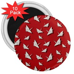 Paper Cranes Pattern 3  Magnets (10 Pack)