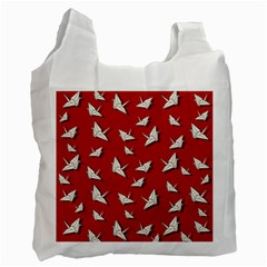 Paper Cranes Pattern Recycle Bag (two Side)
