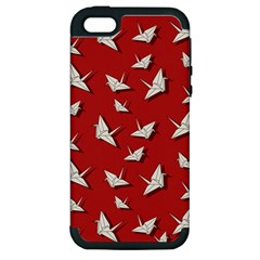 Paper Cranes Pattern Apple Iphone 5 Hardshell Case (pc+silicone)