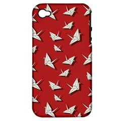 Paper Cranes Pattern Apple Iphone 4/4s Hardshell Case (pc+silicone)
