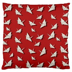 Paper Cranes Pattern Large Flano Cushion Case (two Sides)
