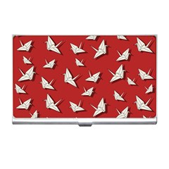Paper Cranes Pattern Business Card Holders