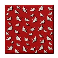 Paper Cranes Pattern Face Towel