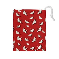 Paper Cranes Pattern Drawstring Pouches (large)