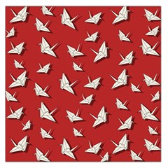 Paper Cranes Pattern Large Satin Scarf (square)