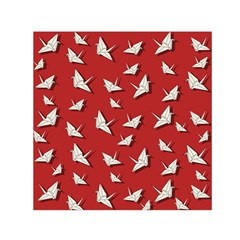 Paper Cranes Pattern Small Satin Scarf (square)