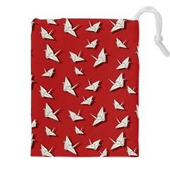 Paper Cranes Pattern Drawstring Pouches (xxl)