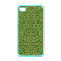 Stars In The Wooden Forest Night In Green Apple Iphone 4 Case (color)