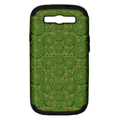 Stars In The Wooden Forest Night In Green Samsung Galaxy S Iii Hardshell Case (pc+silicone)