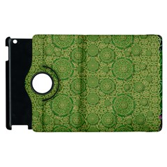 Stars In The Wooden Forest Night In Green Apple Ipad 2 Flip 360 Case