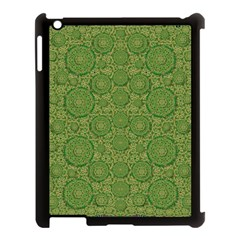 Stars In The Wooden Forest Night In Green Apple Ipad 3/4 Case (black)