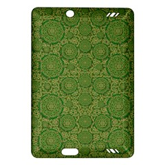 Stars In The Wooden Forest Night In Green Amazon Kindle Fire Hd (2013) Hardshell Case