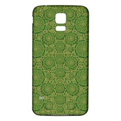 Stars In The Wooden Forest Night In Green Samsung Galaxy S5 Back Case (white)