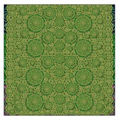 Stars In The Wooden Forest Night In Green Large Satin Scarf (square)