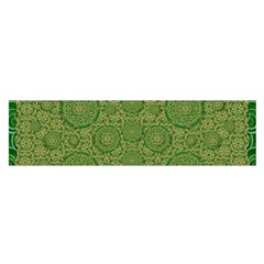 Stars In The Wooden Forest Night In Green Satin Scarf (oblong)