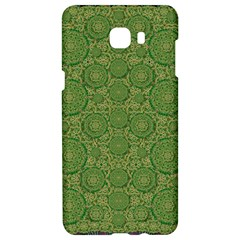 Stars In The Wooden Forest Night In Green Samsung C9 Pro Hardshell Case