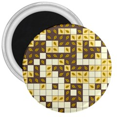 Autumn Leaves Pattern 3  Magnets